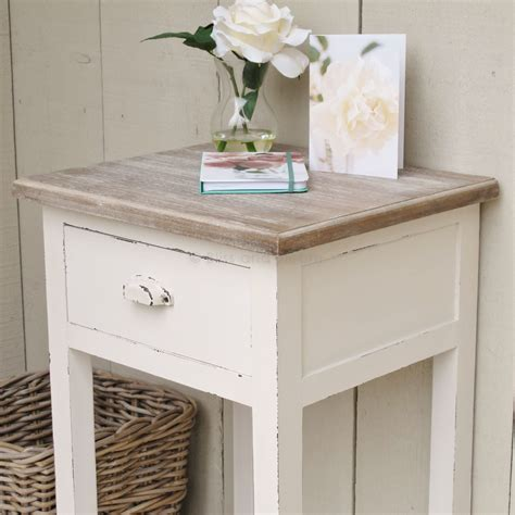White Side Table White Bedside Side Table Bliss And Bloom Ltd