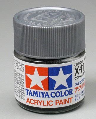 acrylic paint flammable omnimodels tam81011 81011 tamiya acrylic x11 chrome
