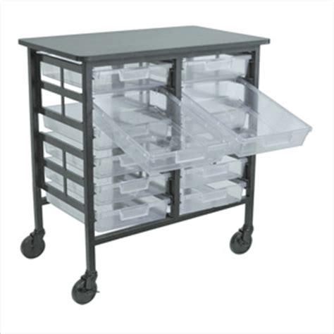 Storage Bin Cart H Wilson C122s12 Cl Clear Bin Cart Clear Storage Cart
