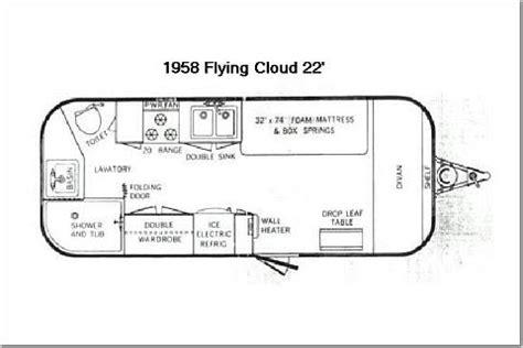vintage airstream floor plans airstream floor plans 2017 airstream flying cloud