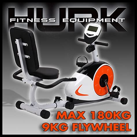hurk commercial quality recumbent bike home fitness