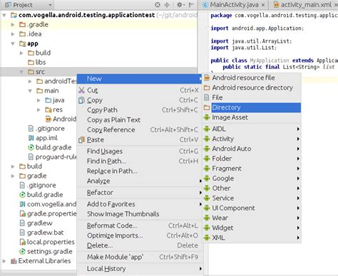 android studio junit test tutorial android application testing with the android test