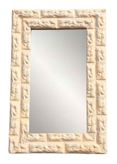 pattern mirror frame brick pattern ceiling tin framed mirror olde good things