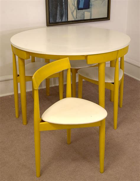 Round Dining Room Tables Seats 8 by Compact Dinette Set By Hans Olsen For Frem Rojle