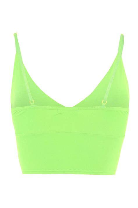 Crop Tank Top Mg womens bralet crop wrap bra midriff sleeveless v neck vest tank top ebay