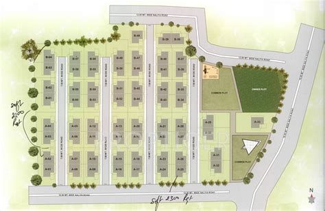 judicial layout plan 1109 sq ft plot for sale in om infra lotus court kalali