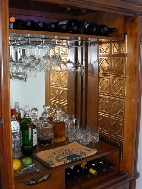 armoire bar images how to convert an armoire into a bar just b cause
