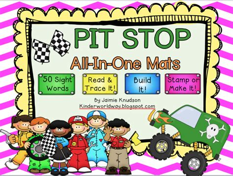 Pit Stop 02 kinderworld pit stop all in one sight word mats