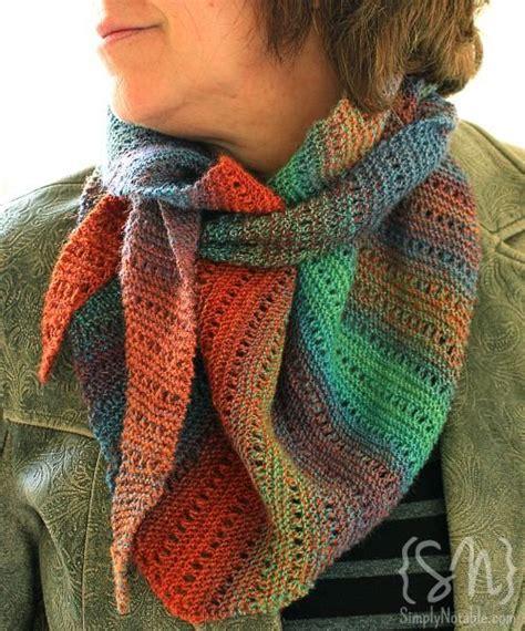 knitting pattern handspun yarn spun for stripes the scarf simply notable