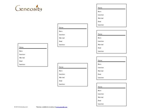 printable family tree forms family tree template family tree record forms