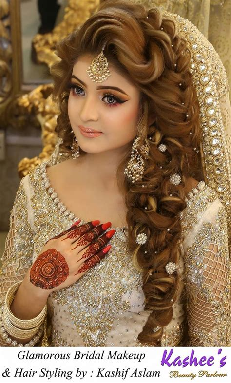wedding hairstyles and makeup kashees beautiful bridal hairstyle makeup parlour