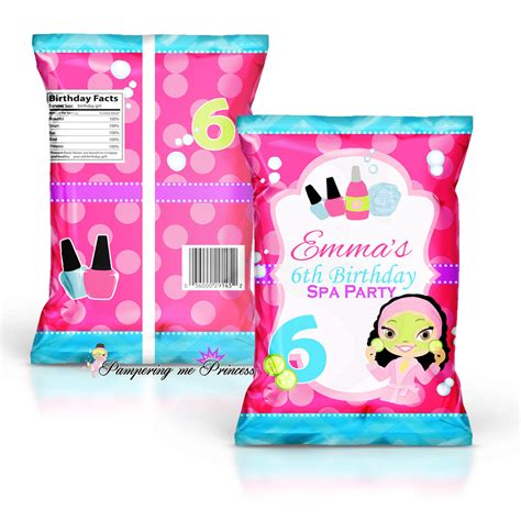 Custom One Of A Bags Chip by Spa Custom Treat And Chip Bags