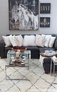 Glam Home Decor by Rustic Glam Living Room New Rug Setting For Four