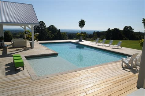Decks With Above Ground Pools by Gib San Pools Ltd