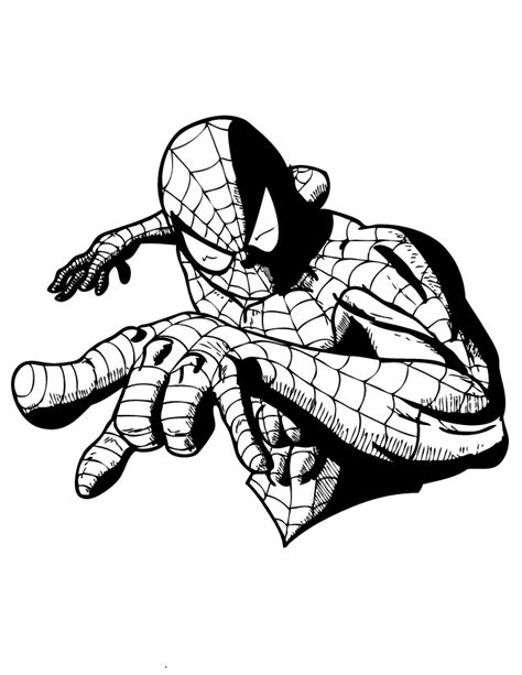 spiderman face coloring page spider man face template cut out coloring page free