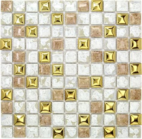 Discount Kitchen Backsplash white porcelain wall tiles backsplash pcmt097 yellow gold