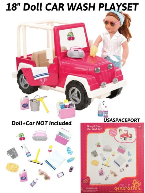 18 inch doll jeep 18 quot doll car wash accessories play set for american