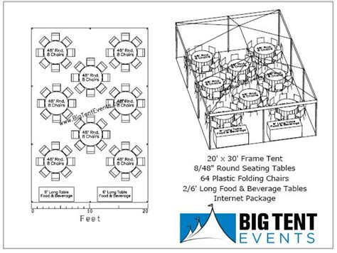 how many tables fit under a 20x20 tent big tent events frame tent rentals table and chair