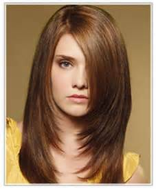 Long hairstyles for your round face shape model with long straight