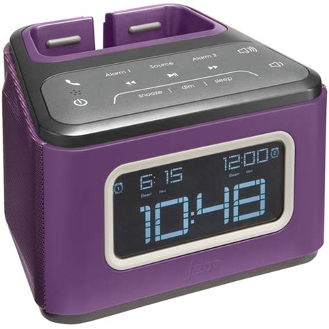 Jam Alarm Hello hmdx hx b510pu jam zzz bluetooth alarm clock purple
