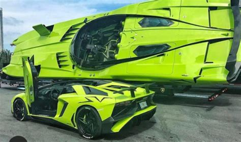 lambo speed boat lamborghini aventador sv and matching speed boat for sale