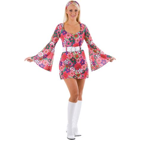 60er 70er retro 60s 70s flower gogo fancy dress costume ebay