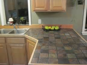 Kitchen Tile Countertop Ideas Slate Kitchen Countertops