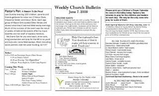 church bulletin insert template baptist church bulletins for quotes quotesgram