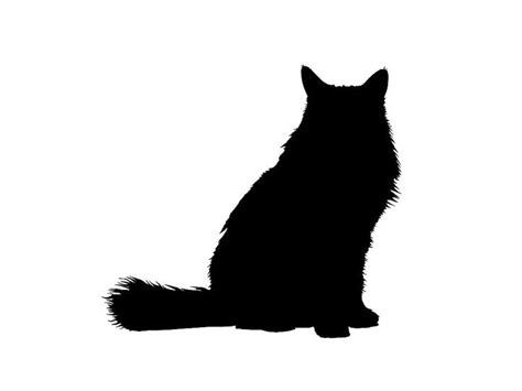 fluffy cat clip art 31