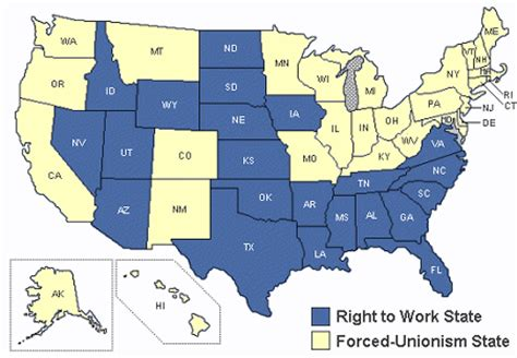 best states to work in best workforces are in right to work states survey finds