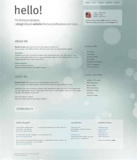 freelance designer personal portfolio template by segen