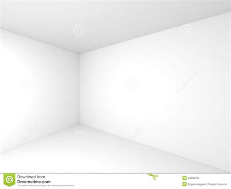 d in top corner of room empty white 3d room interior background stock illustration image 45950762