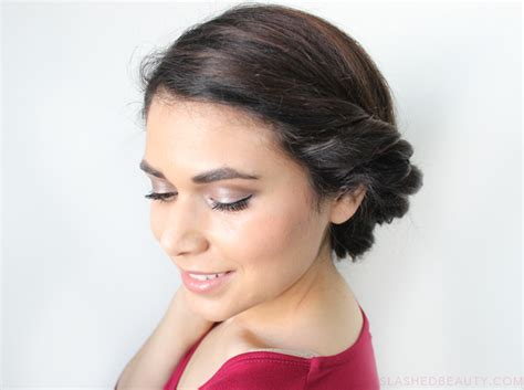 how to roll front of hair date night hair twisted low roll updo tutorial slashed