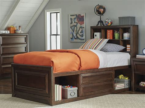youth bedroom furniture with storage greenough maple oak youth storage panel bedroom set from