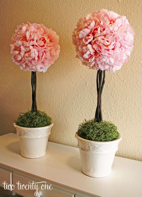 Topiary Flower 2 how to make a topiary diy two twenty one