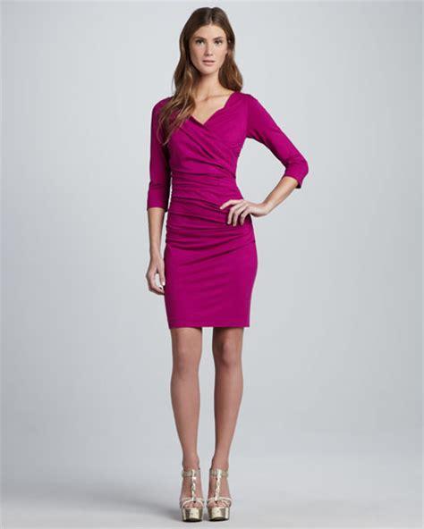 Diane von Furstenberg Bentley Ruched Short Dress