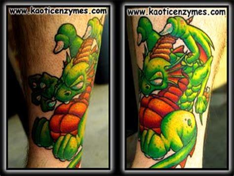 new tattoo gone lumpy ghostprint gallery tattoos new school lumpy dragon