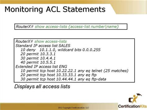 Sho Acl cisco ccna acl part iv certificationkits