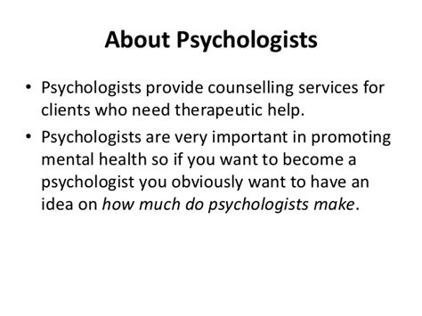 how much do psychologists make