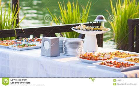 buffet catering prices catering buffet style with different light snack stock image image 61217113