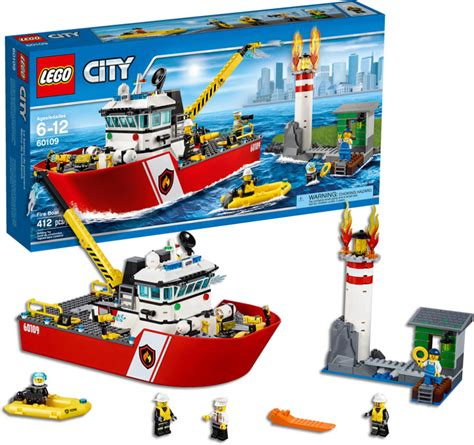 lego city boat lego city fire fire boat
