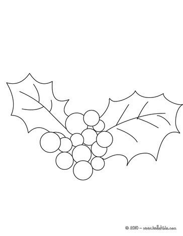 holly branch coloring pages hellokids com