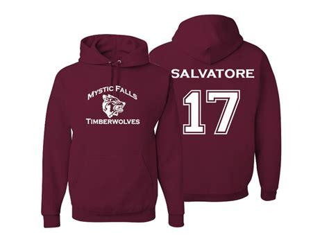 Hoodie Team Mystic Abu 5 diaries mystic falls timberwolves hoodie salvatore 17
