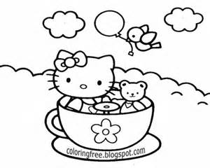 Hello Kitty Sweet Chocolate Drink Printable Coloring Ideas For Girls sketch template
