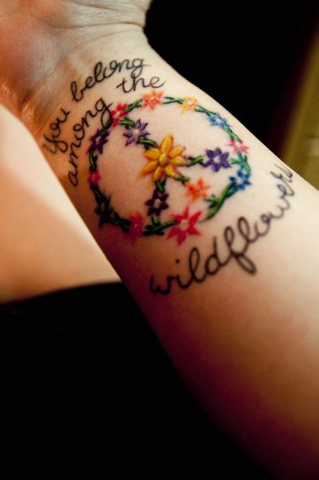 tom petty tattoos quote you belong among the wildflowers flower color