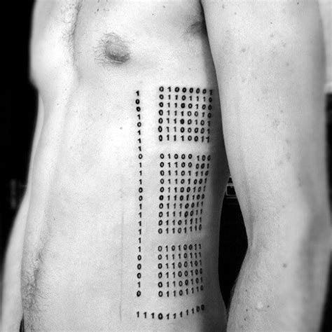 binary code tattoo 30 binary designs for coded ink ideas