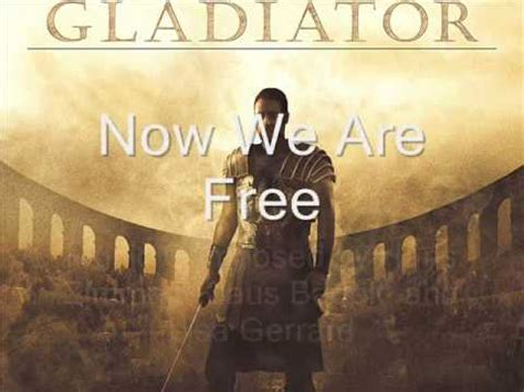 gladiator film now we are free gladiator soundtrack quot elysium quot quot honor him quot quot now we are