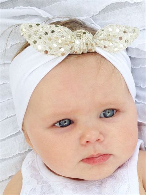 jersey sequin baby headband gold from white gold sequin twist baby wrap jersey knit