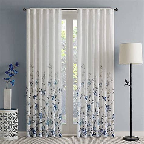 sheer flower curtains buy regency heights regency heights isla floral sheer 63