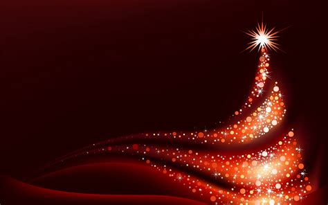 Red christmas background with red christmas tree jpg